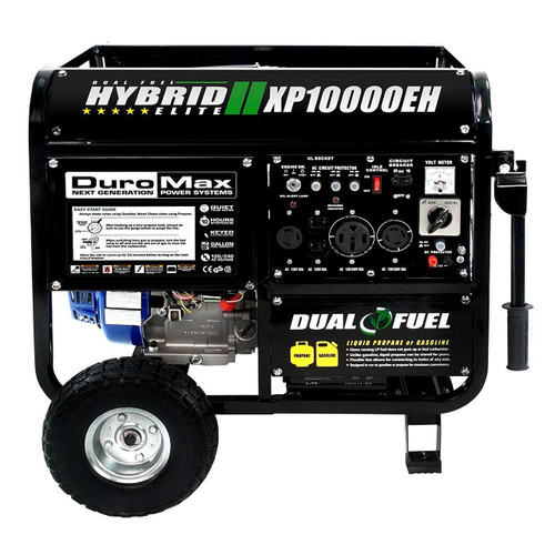 DuroMax XP10000EH 10000-Watt Electric Start Dual Fuel Hybrid Portable Generator