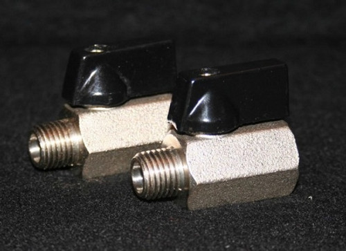 "1/4"" Nickel-Plated Brass 1200 psi Mini-Ball Valve"