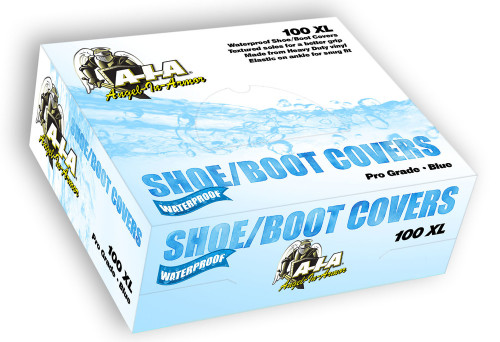 Box of 100 XL Waterproof Boot Shoe Covers (50 Pairs) - Blue