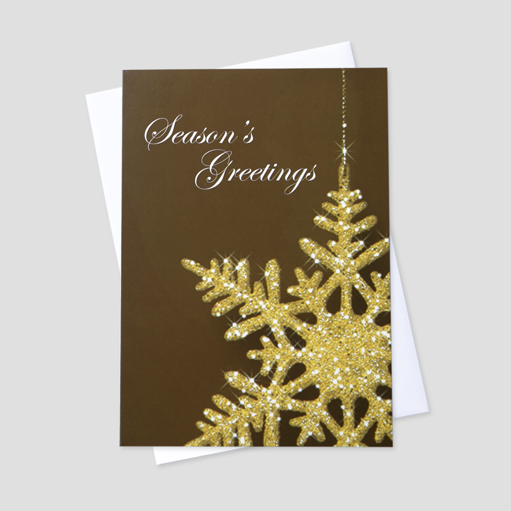 Snowflake Christmas Greeting Cards   CEO Cards