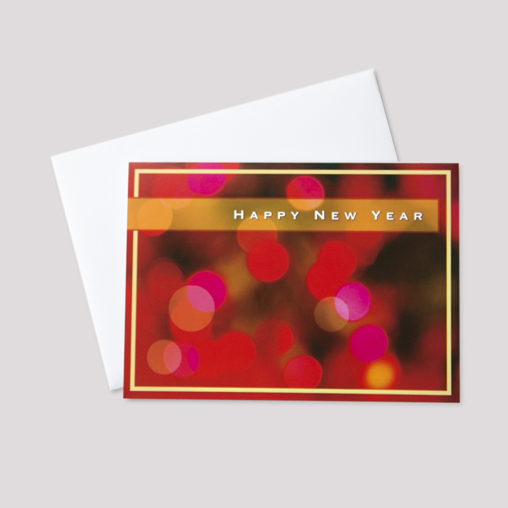 Professional New Year Greeting Card Ceo Cards