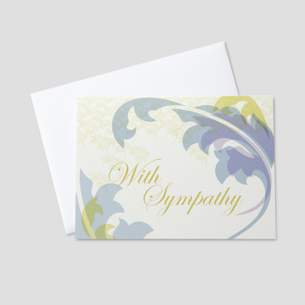 Customer sympathy greeting cards ceo cards customer sympathy greeting card featuring with sympathy surrounded by colorful leaves on a cream colored background m4hsunfo