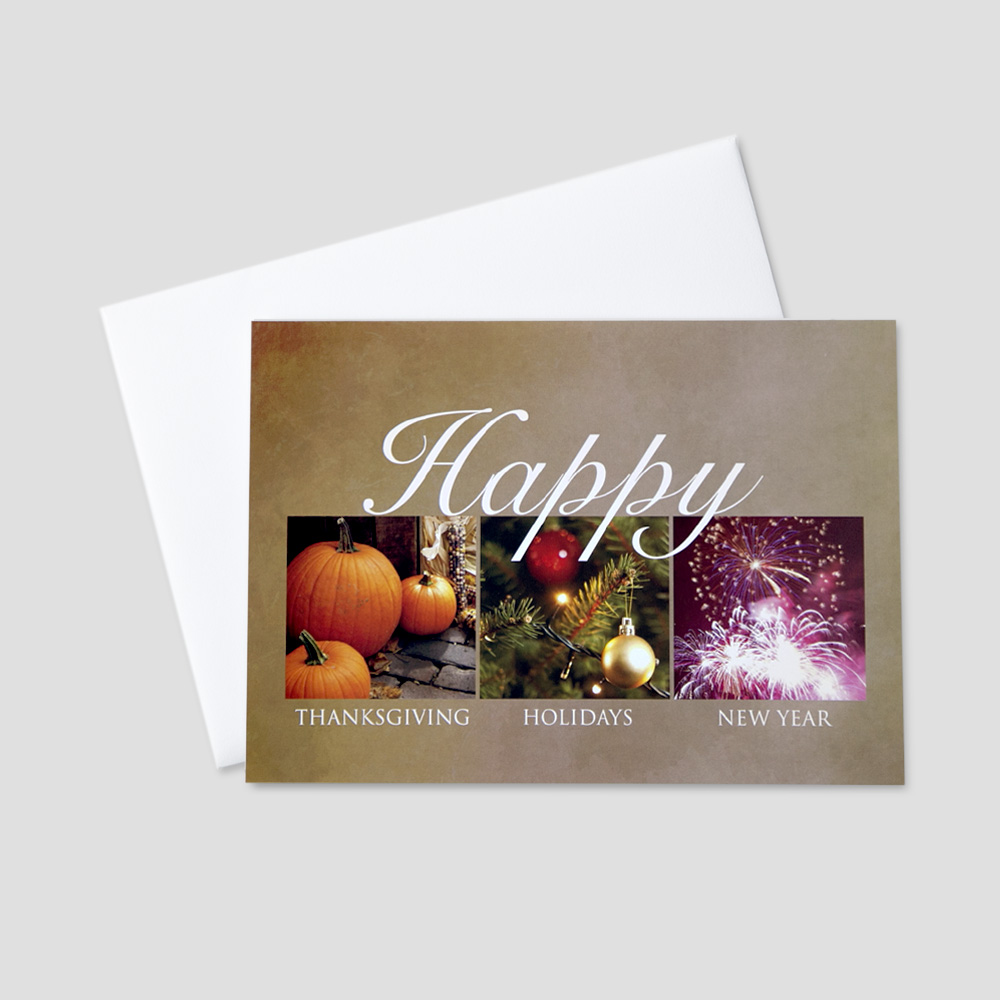 Seasonal business greeting card ceo cards corporate thanksgiving greeting card featuring images and messages to represent the entire holiday season kristyandbryce Images