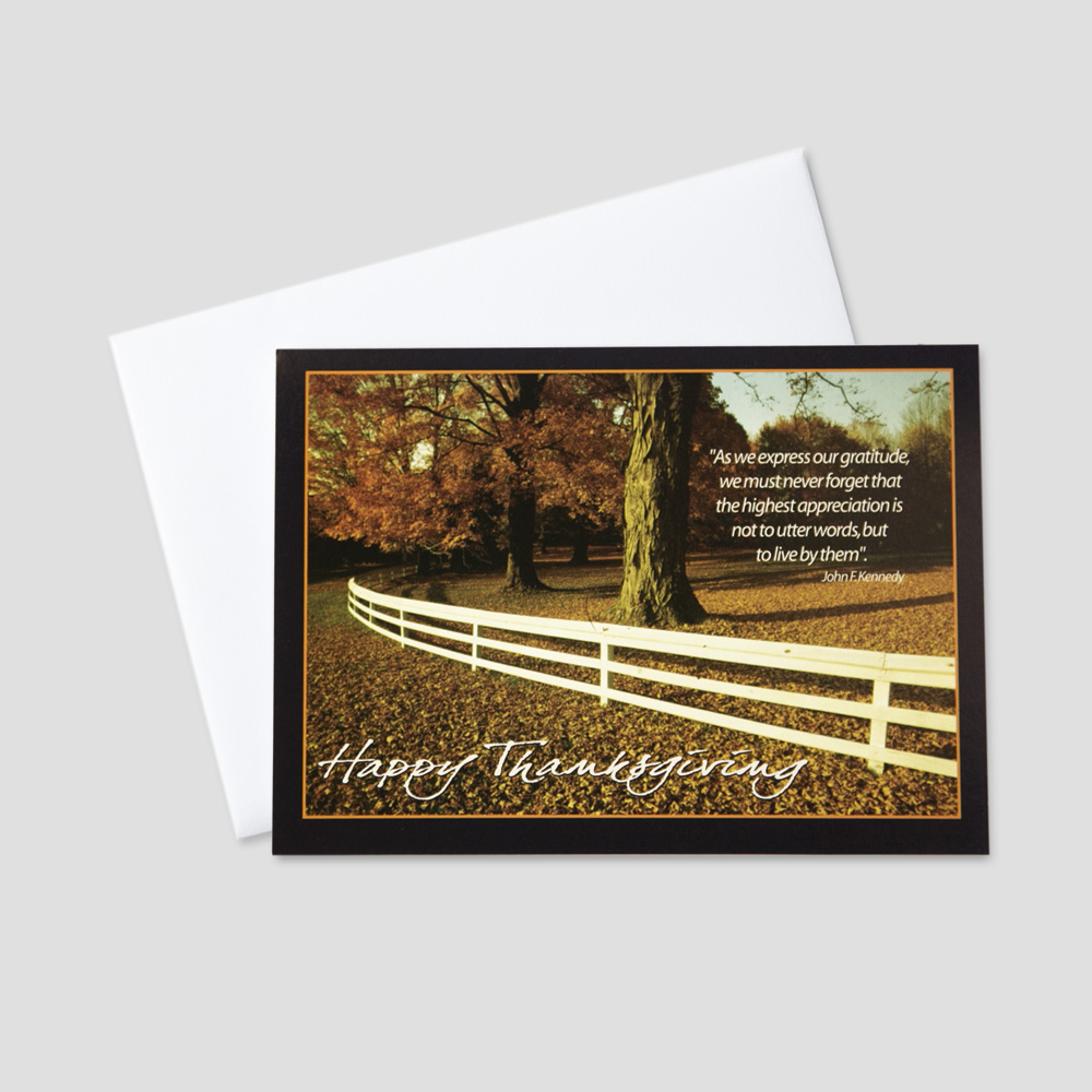 Business Giving Thanks Greeting Cards   CEO Cards