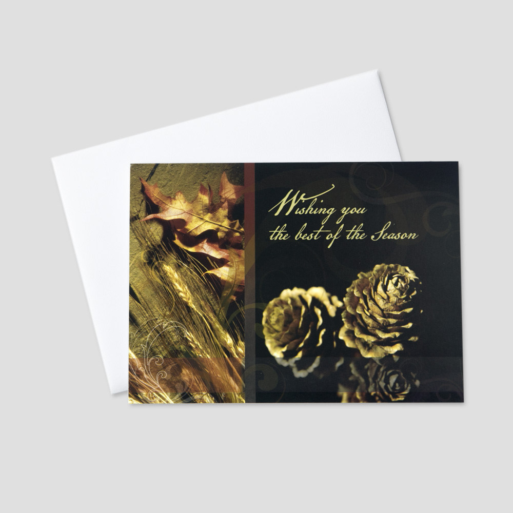 Rustic Company Thanksgiving Greeting Card | CEO Cards