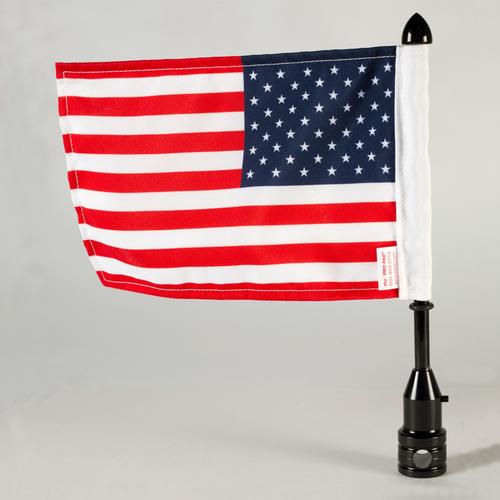 """Tour-Pak 1/2"""" Fixed Flag Mount - Black"""