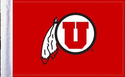 """Utah Utes 6""""x9"""" Motorcycle Flag"""