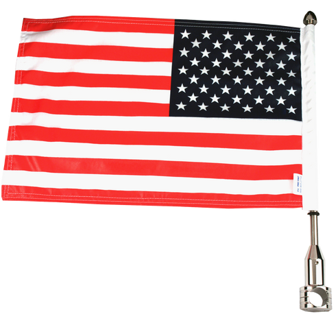 License Plate Bar 7/8 Motorcycle Flag Mount / 9 Pole / USA Flag / Air Force Topper For Harley-Davidson Motorcycles / Made In USA by Pro Pad