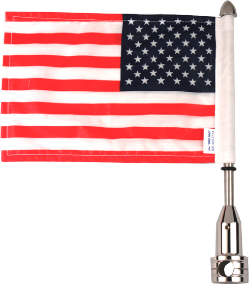 Tour Pak 5/8 Fixed Motorcycle Flag Mount / 9 Pole With Flag / Army Star Topper For Harley-Davidson Motorcycles / Made In USA by Pro Pad