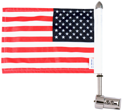 Round Sissy Bar 11/16 Motorcycle Flag Mount / 9 Pole / Marines Flag / Fire Dept Topper For Harley-Davidson Motorcycles / Made In USA by Pro Pad