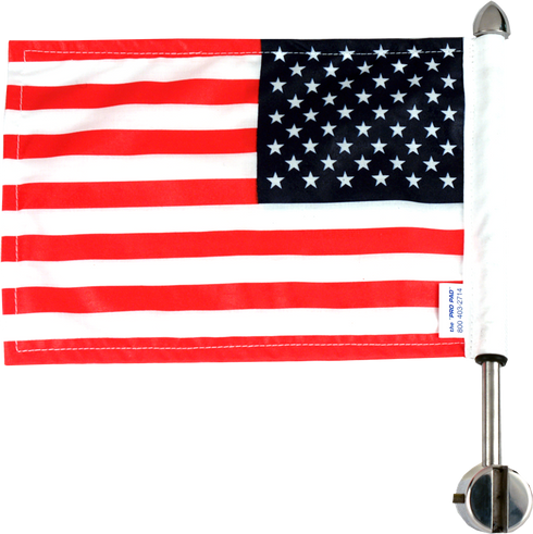Honda Deluxe Sissy Bar Motorcycle Flag Mount / 9 Pole With Flag / POW Topper / Made In USA by Pro Pad