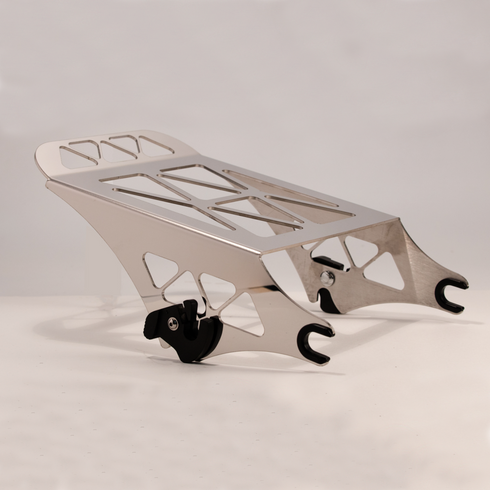 Triangle Quick Detachable Rack in Polished Stainless For Harley-Davidson Motorcycles / Made In USA by Pro Pad