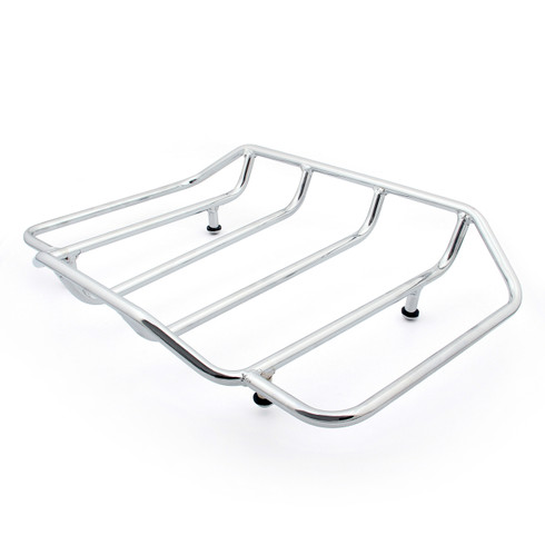 Chrome Tour Pack Luggage Rack For Harley-Davidson Motorcycles by Pro Pad