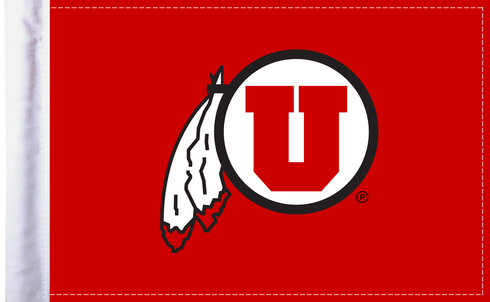 Utah Utes 6x9 Motorcycle Flag / Made In USA by Pro Pad