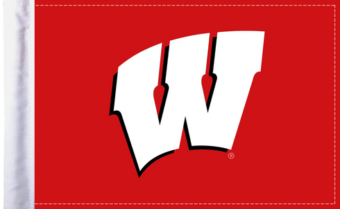 Wisconsin Badgers 6x9 Motorcycle Flag / Made In USA by Pro Pad