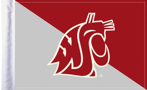 Washington State Cougars 6x9 Motorcycle Flag / Made In USA by Pro Pad