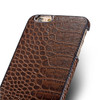iPhone 6S 6 Crocodile Luxury Real Leather Case Brown