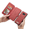Samsung Galaxy S8 Leather Case Wallet Red-14 Card Slots