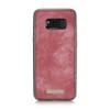 Samsung Galaxy S8+[Plus] Zipper Wallet Card Cash Storage Case Red