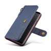 Samsung Galaxy S9 Leather Wallet Case Blue with Strap