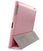 iPad 4+3+2 Smart Cover Premium Leatherette Case Pink