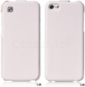iPhone 5C Hoco Duke Leather Flip Case White