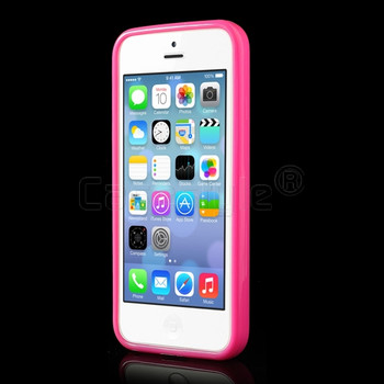 iPhone 5C Bumper Pink with Clear Back