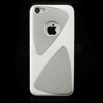 iPhone 5C Brushed Aluminum Case White