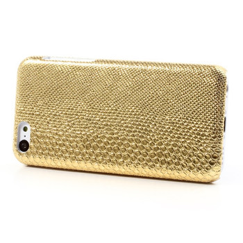 iPhone 5C Snakeskin Case Gold