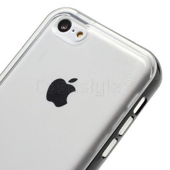 iPhone 5C Black Bumper Case with Clear Back