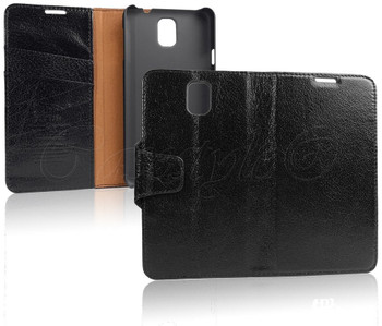 Samsung Galaxy Note 3 Buffalo Leather Wallet Case Black