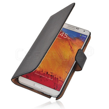 Samsung Galaxy Note 3 Split Leather Wallet Case Black
