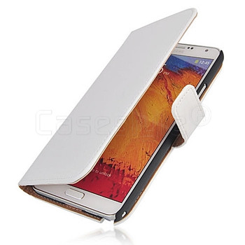 Samsung Galaxy Note 3 Split Leather Wallet Case White