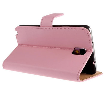 Samsung Galaxy Note 3 Split Leather Wallet Case Pink