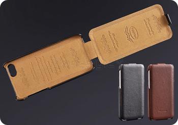 iPhone 5C Genuine Leather Super Thin Flip Case Black