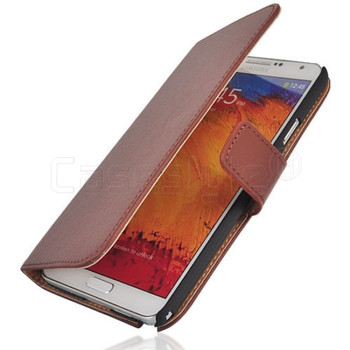 Samsung Galaxy Note 3 Split Leather Wallet Case Brown