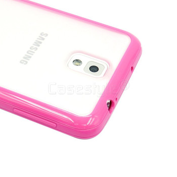 Samsung Galaxy Note 3 Pink Bumper with Clear Back
