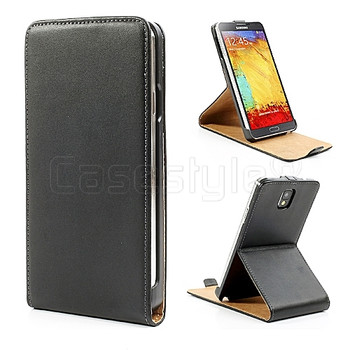 Samsung Galaxy Note 3 Leather Stand Flip Case Black