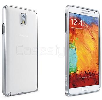 Samsung Galaxy Note 3 Aluminum Thin Bumper Case Silver