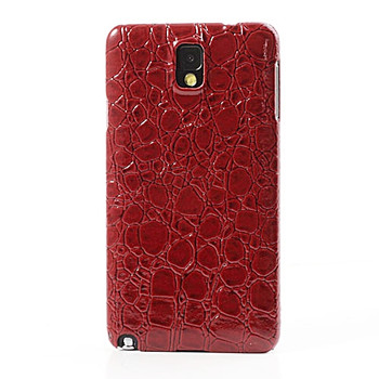 Samsung Galaxy Note 3 Crocodile Style Leather Case Red