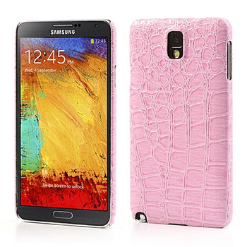 Samsung Galaxy Note 3 Crocodile Style Leather Case Pink