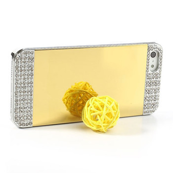 iPhone 5S Luxury Diamond Mirror Case Gold/Silver