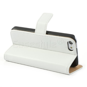 iPhone 5C Leather Wallet Case White