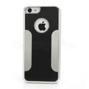 iPhone 5C Brushed Metal Case Black