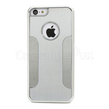 iPhone 5C Brushed Metal Case Silver