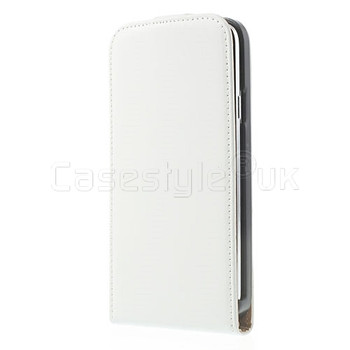 Samsung Galaxy S5|S5 NEO Leather Flip Case White