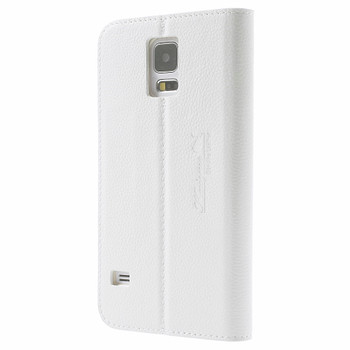Samsung Galaxy S5|S5 Neo Real Leather Slim Case White