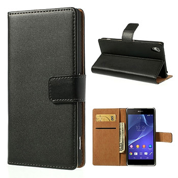 Sony Z2 genuine leather wallet case