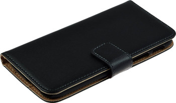 HTC One M8 Leather Wallet Case Black