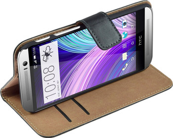 HTC One m8 real leather case